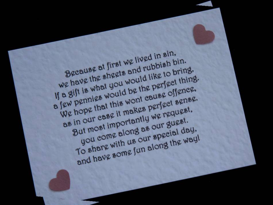 Poems For Wedding Gifts Money : Wedding Poems Money Instead Of Gifts Picture Ideas With Wedding