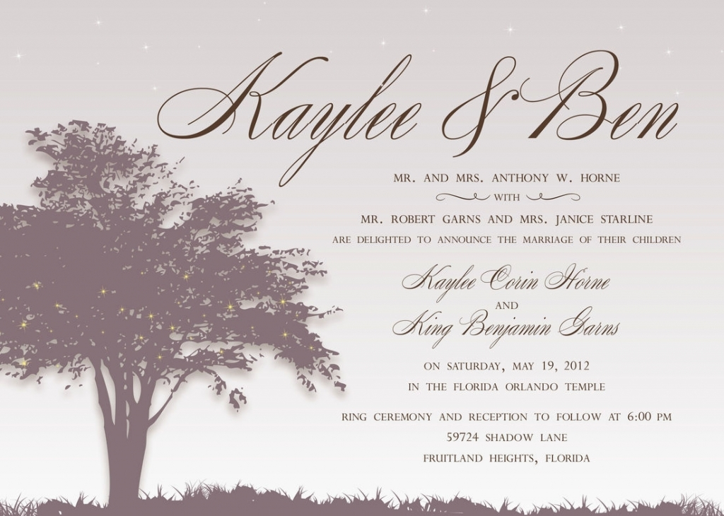 Wording Of Wedding Invitations: Wedding Reception Invitation Wording