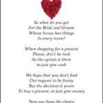 Wedding Wishing Well Poems Funny