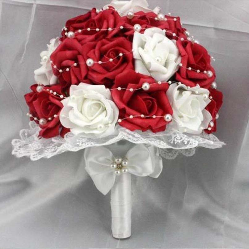 white and red bouquets wedding. Black Bedroom Furniture Sets. Home Design Ideas