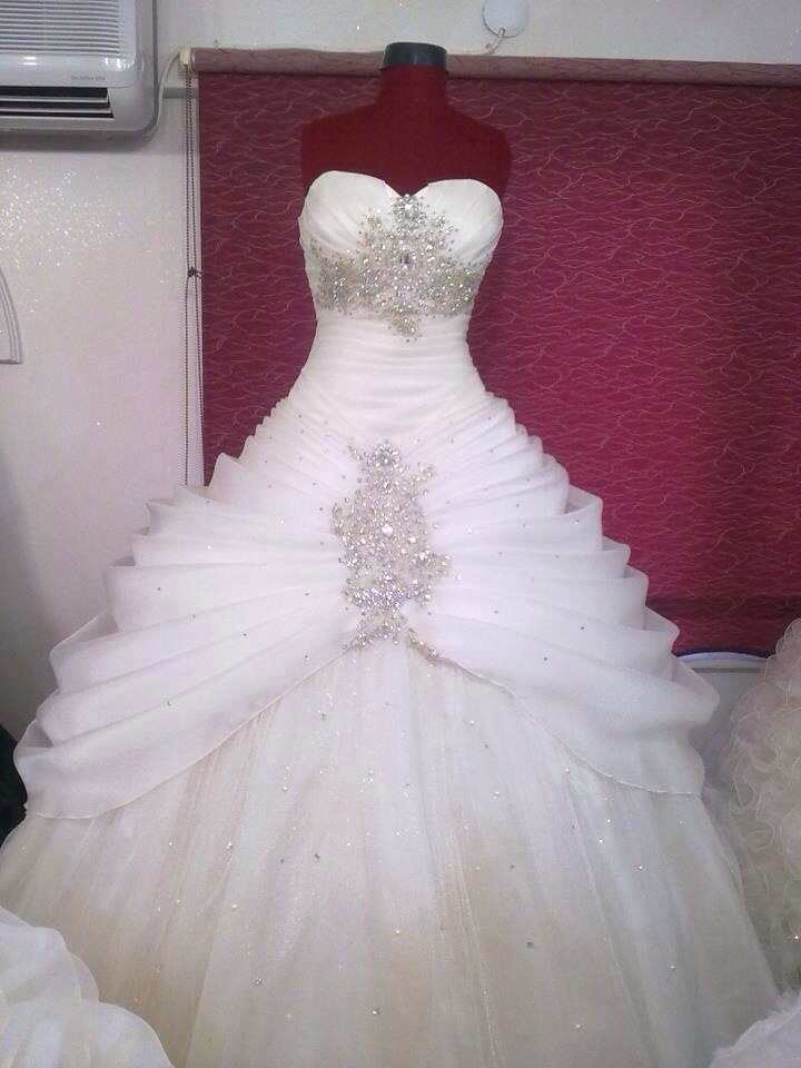 White Wedding Dress With Diamonds