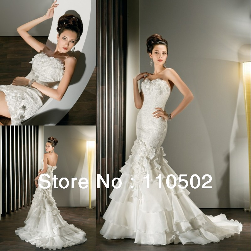 Detachable lace top for wedding dress