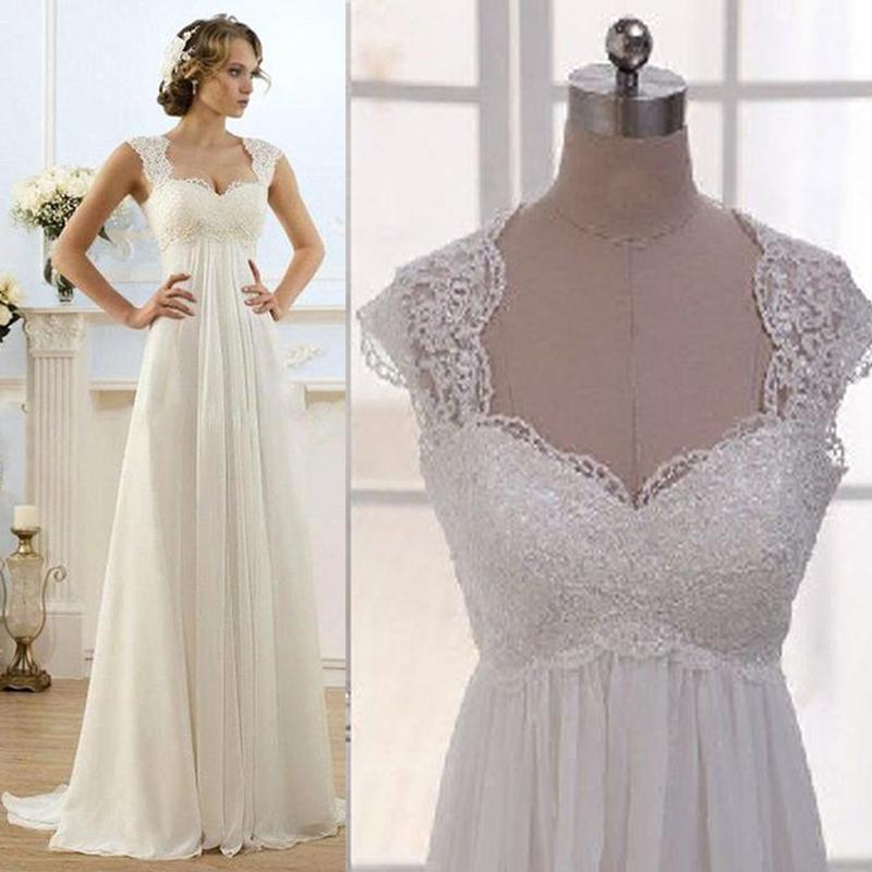E Wedding Dresses : Empire waist wedding dress