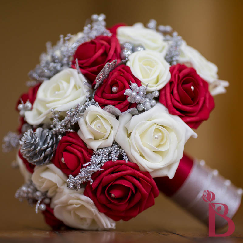 Winter Wedding Bouquet Red Cream Lg More Colors