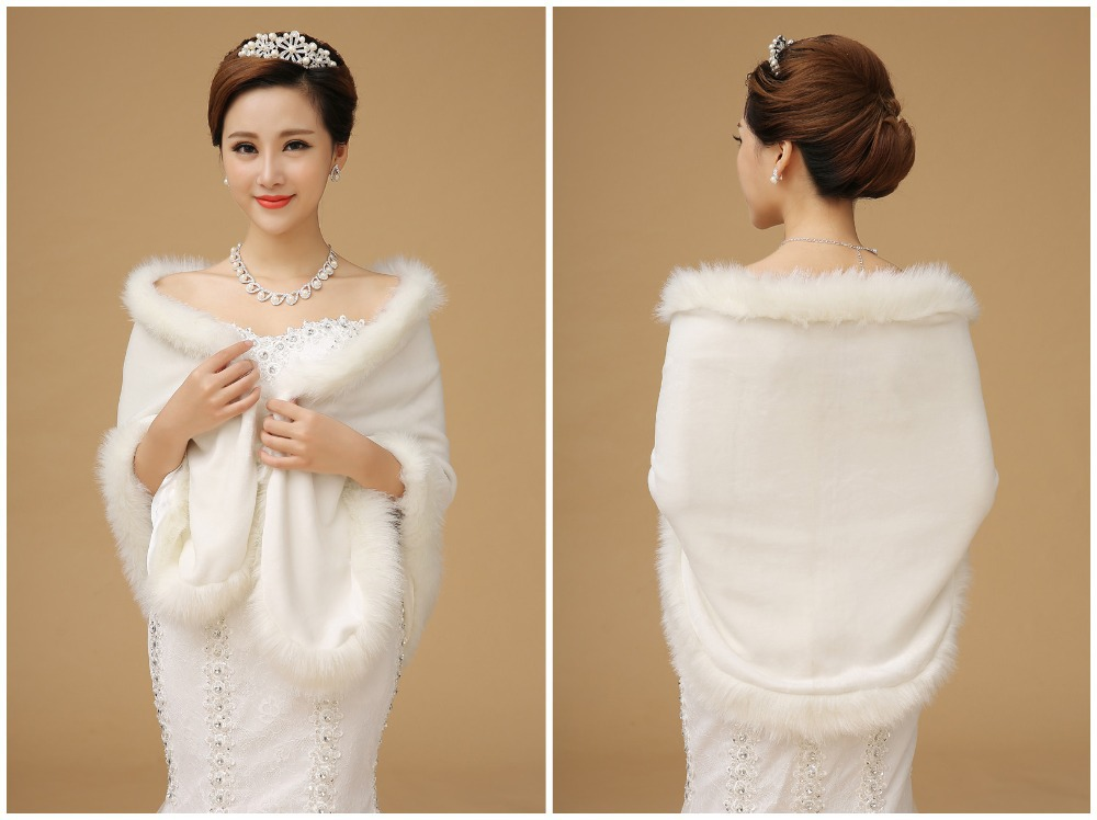 Winter Wedding Dress With Fur Trim
