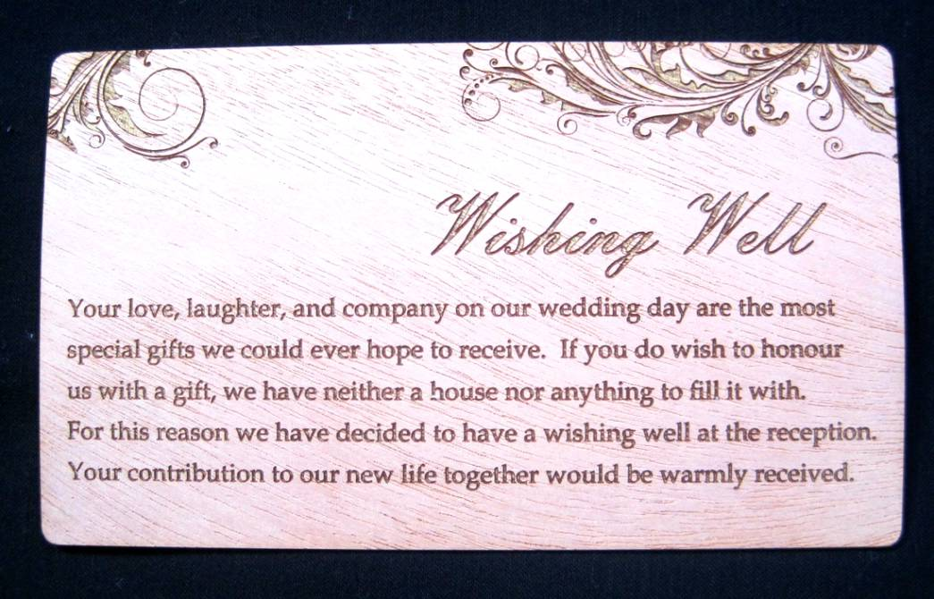 Wishing Well Sayings For Weddings