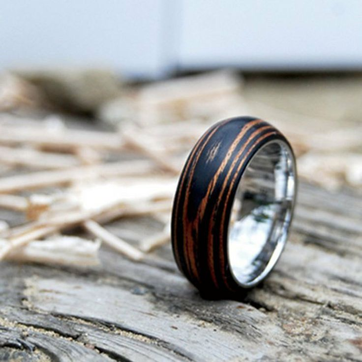 wood wedding rings for men - Mens Wood Wedding Rings
