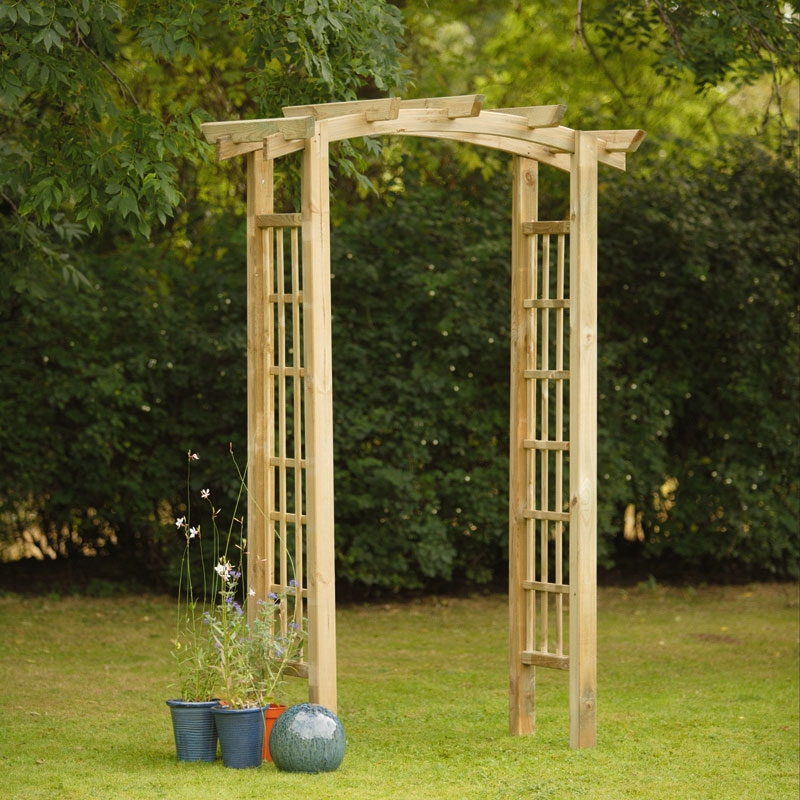 Wooden wedding arch for sale for Timber garden arch designs