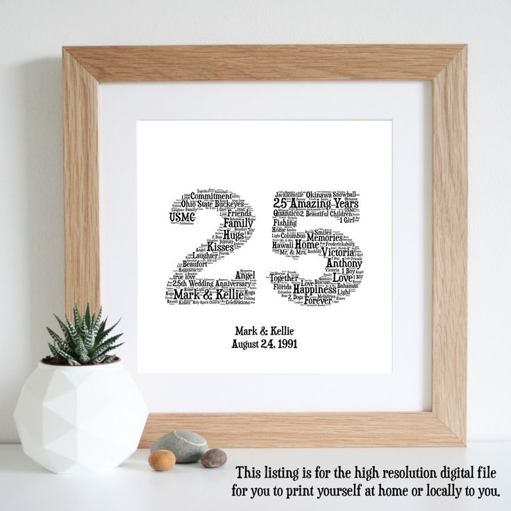 Ideas For 25th Wedding Anniversary Gift: 25th Wedding Anniversary Gift