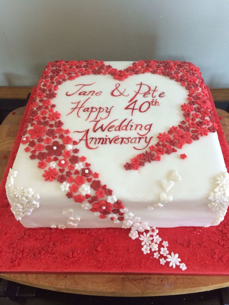1000 Ideas About 40th Anniversary Cakes On Emasscraft Org Wedding Cake