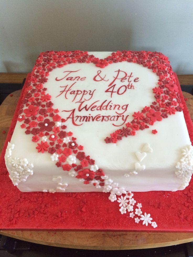 Cake For 40th Wedding Anniversary