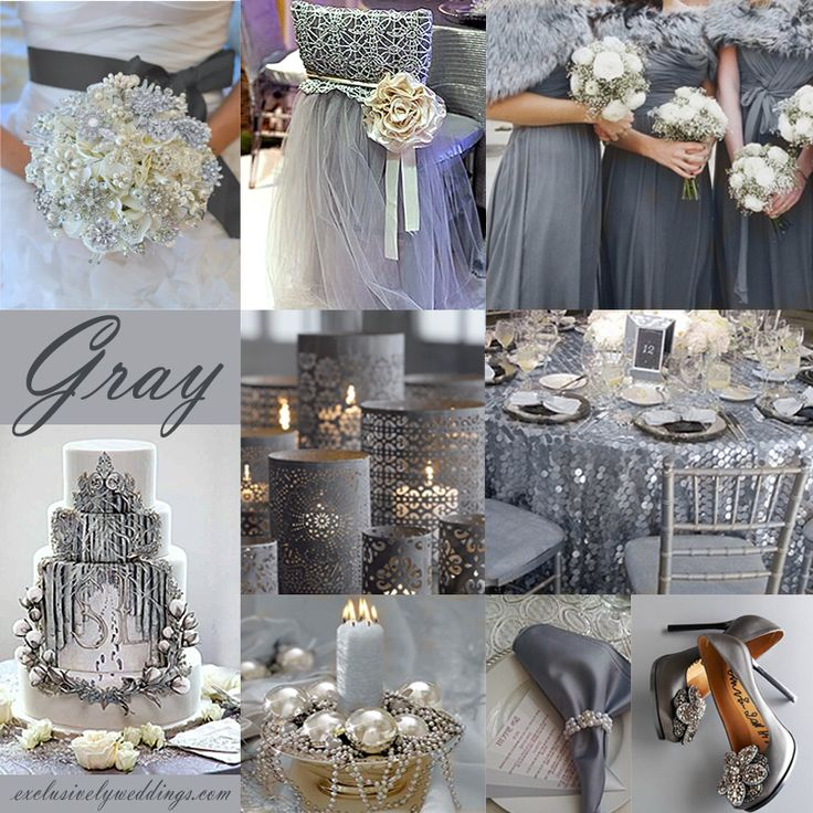 Grey Wedding Ideas: Silver Grey Wedding Theme