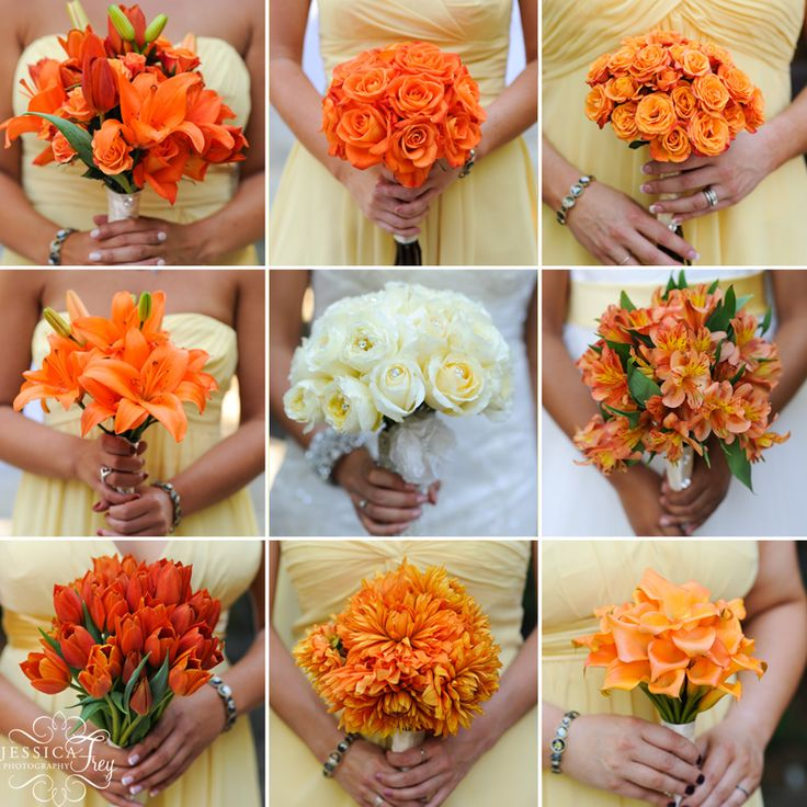 orange wedding bouquets. Black Bedroom Furniture Sets. Home Design Ideas
