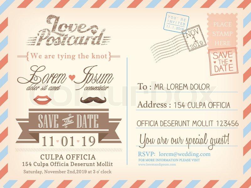 postcard wedding invitations