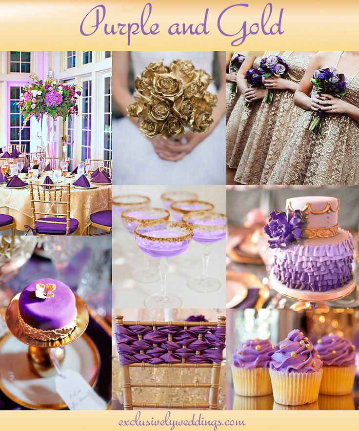 Purple And Gold Wedding Colors