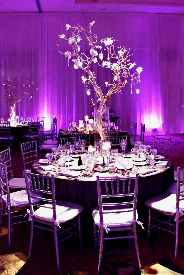Plum Colored Wedding Centerpieces