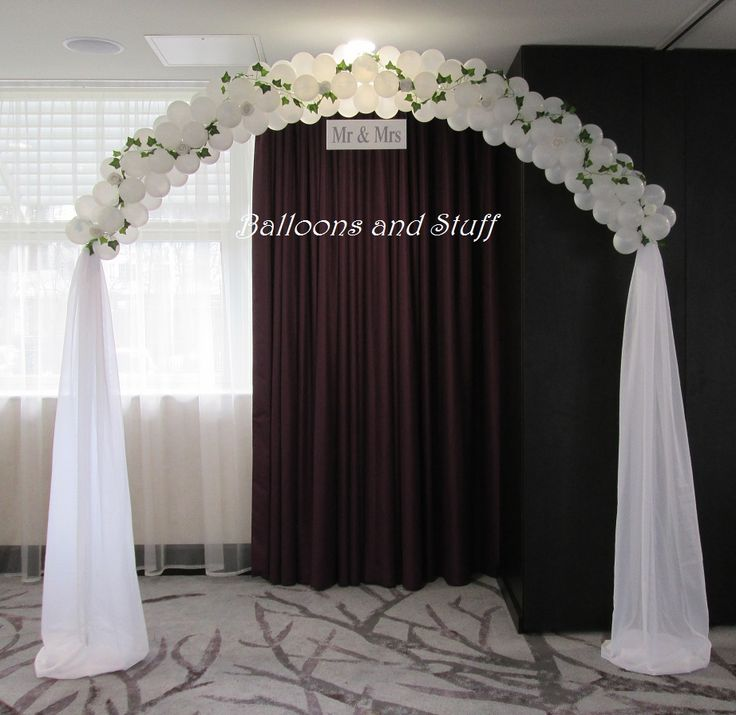 Wedding balloon arches for Balloon decoration for wedding receptions