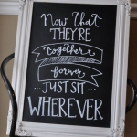 Wedding Signs Chalkboard