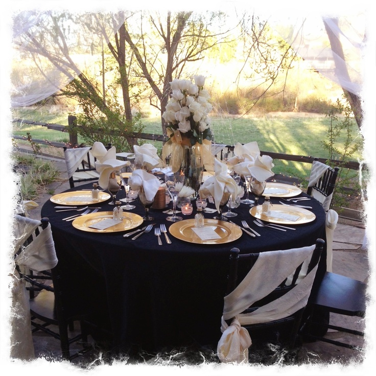 Black gold and ivory wedding ideas