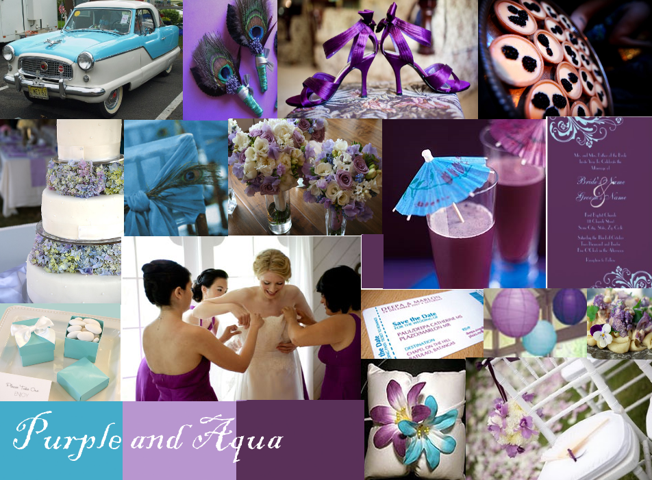 Purple And Aqua Blue Wedding