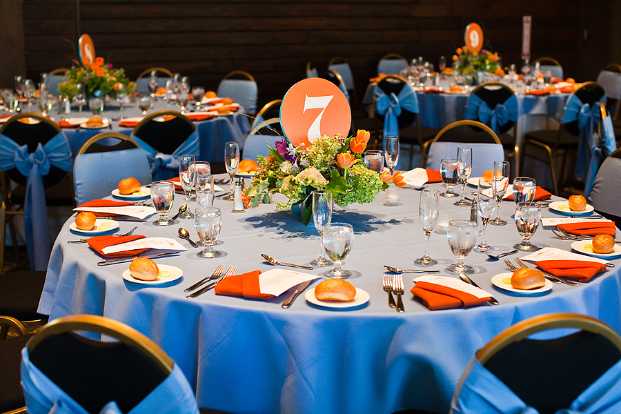 Royal Blue And Orange Wedding Table | www.imgkid.com - The ...