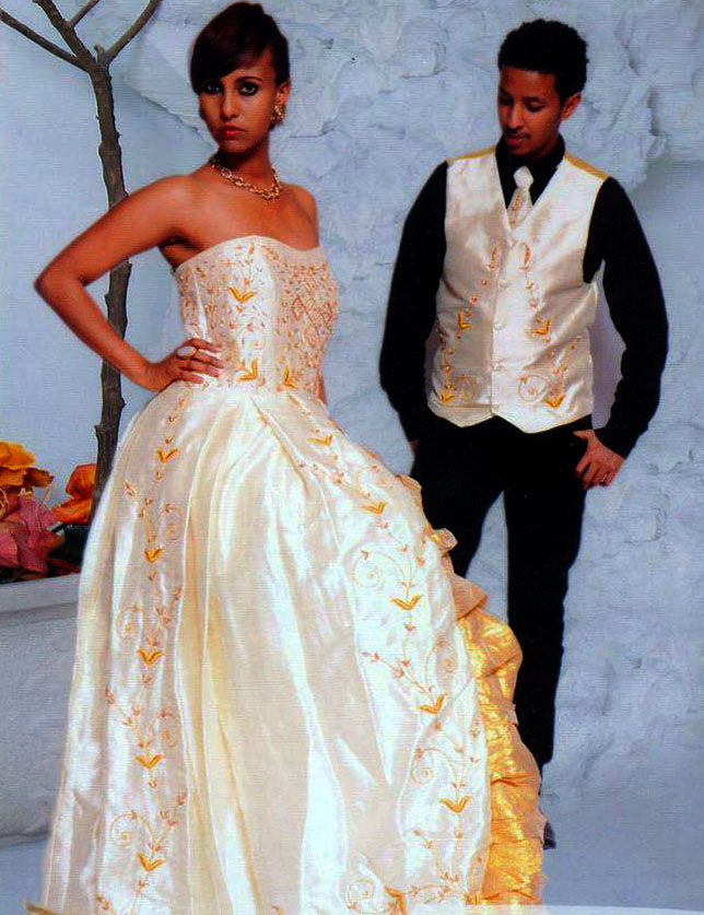 Ethiopian Cultural Wedding Dress