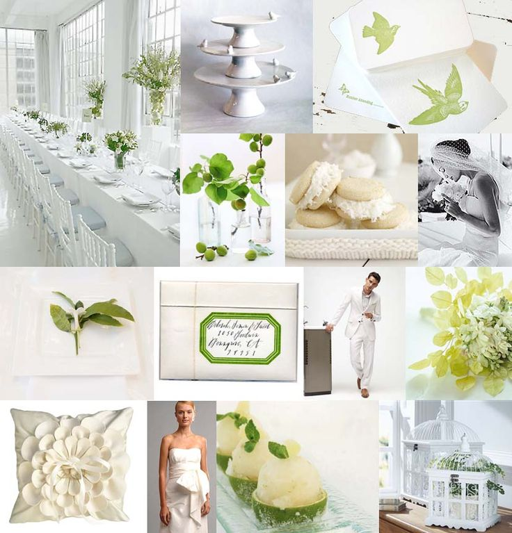 Wedding White Theme: Lime Green And White Wedding Decorations