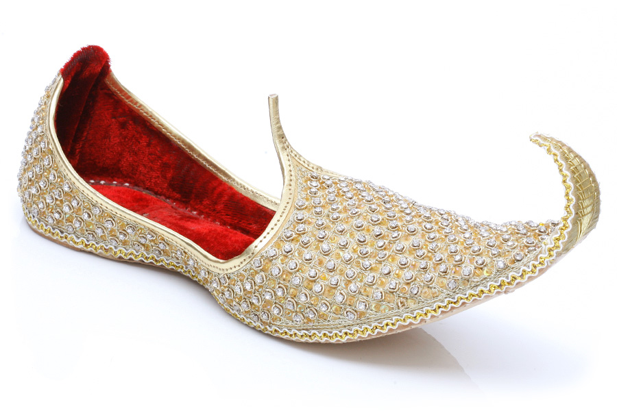 Red And Gold Indian Wedding Shoes
