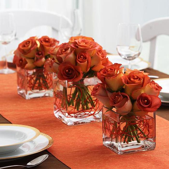 Burnt Orange Wedding Flowers. Camo Wedding Ideas With Candles And ...