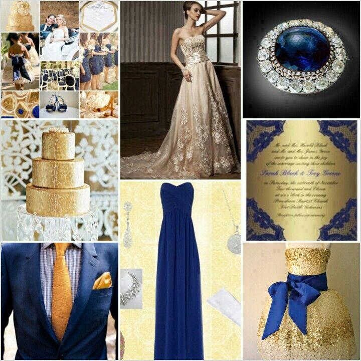 Navy Blue Gold Wedding