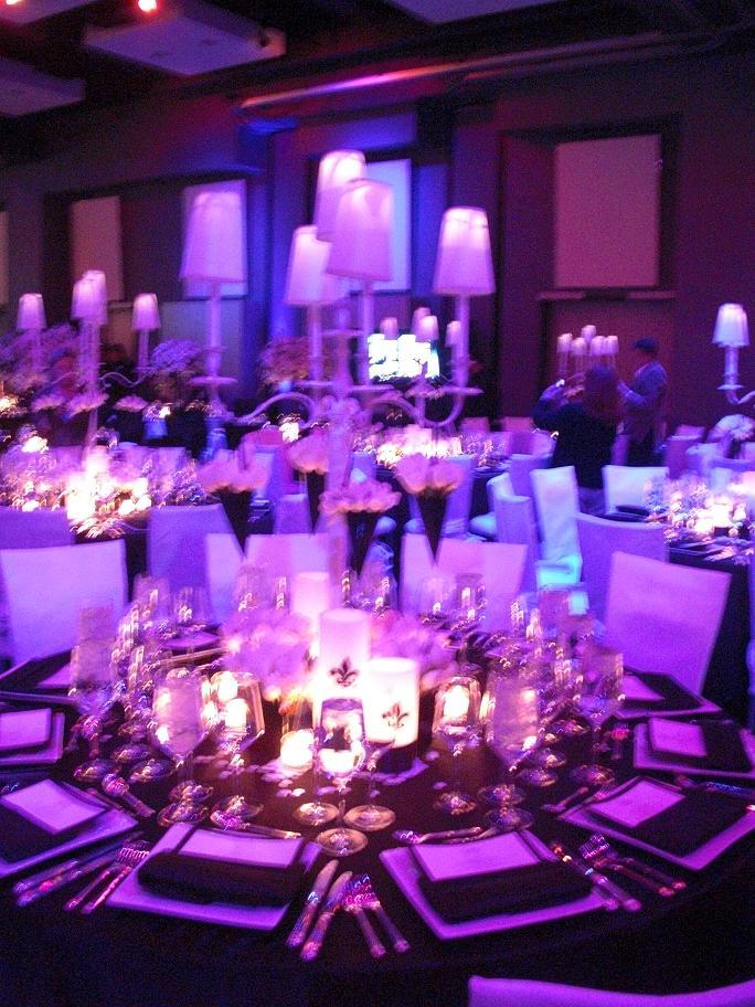 Blue Purple And White Wedding