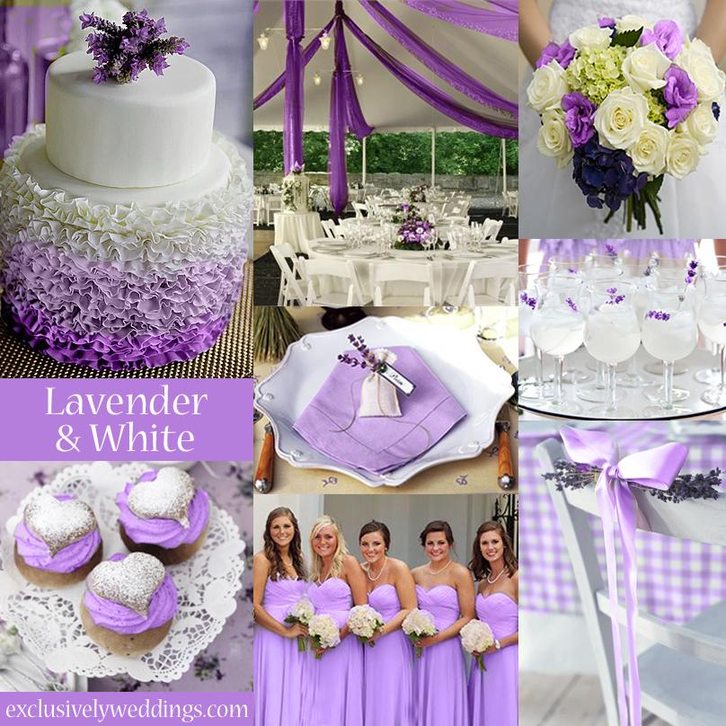 White Silver And Purple Wedding Unique Wedding Ideas