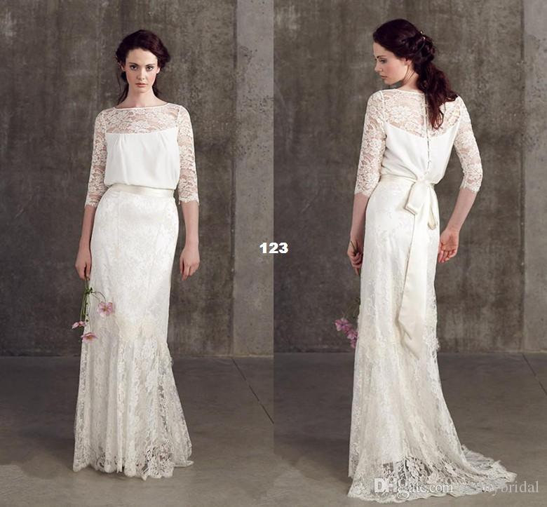 Sleeve Lace Vintage Wedding Dress