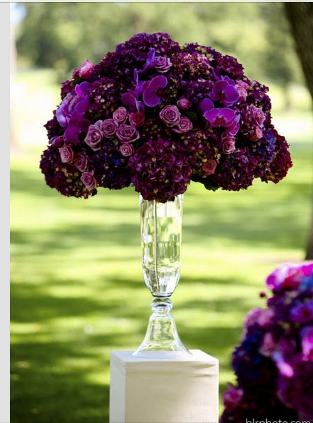 plum wedding flowers