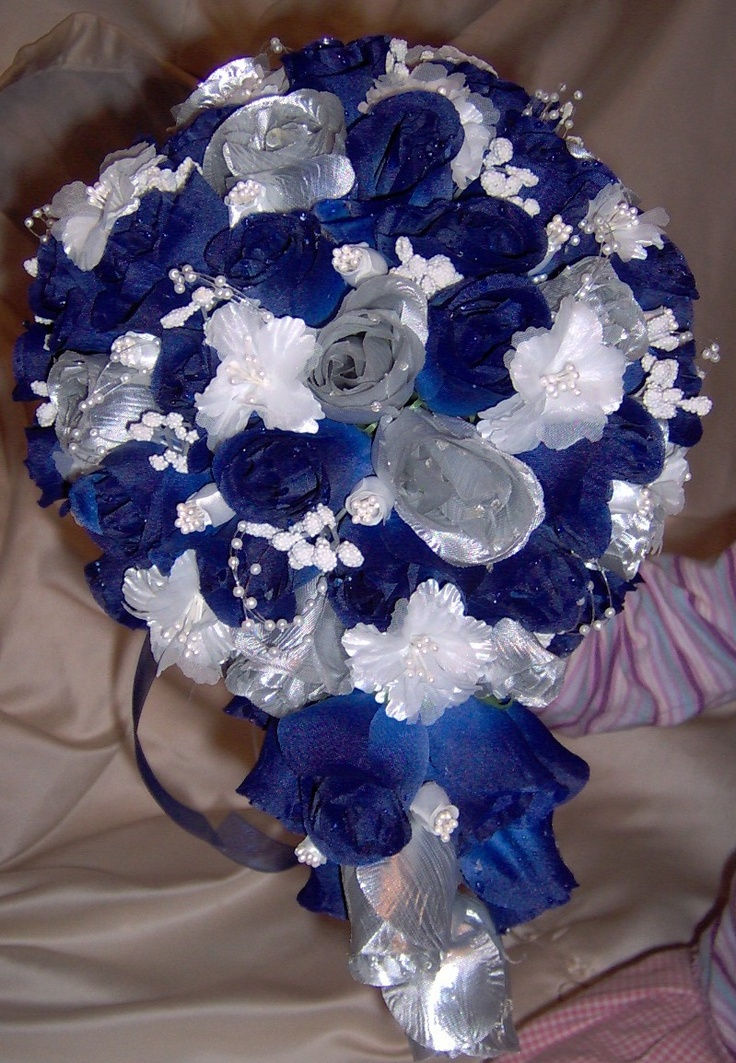 Blue And Silver Decoration Living Room: Blue And Silver Wedding
