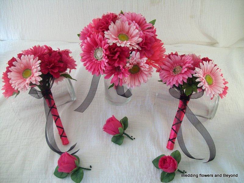 Gerber Daisy Wedding Bouquets
