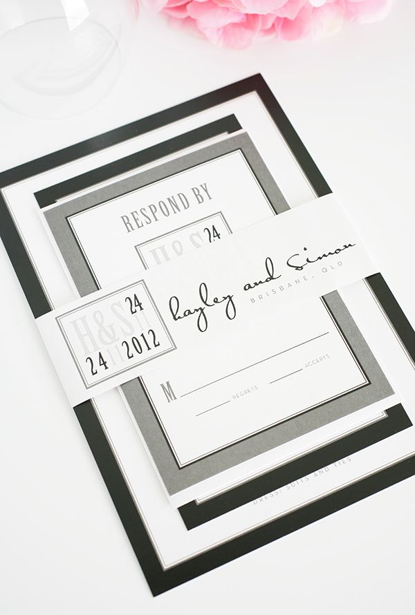 Black And White Wedding Invitations – Black and White Wedding Invites