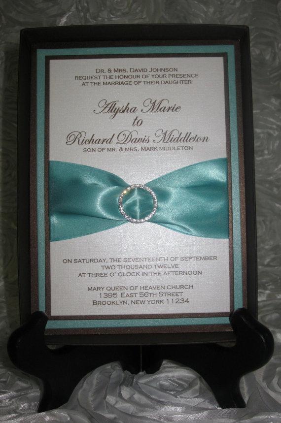Tiffany Themed Wedding Invitations Image collections - Wedding ...