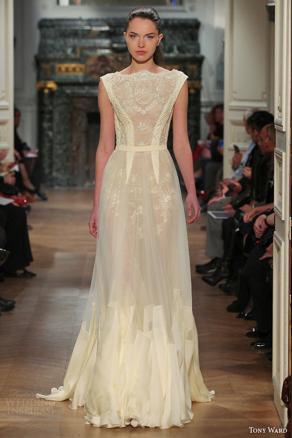 Pale Yellow Wedding Dress