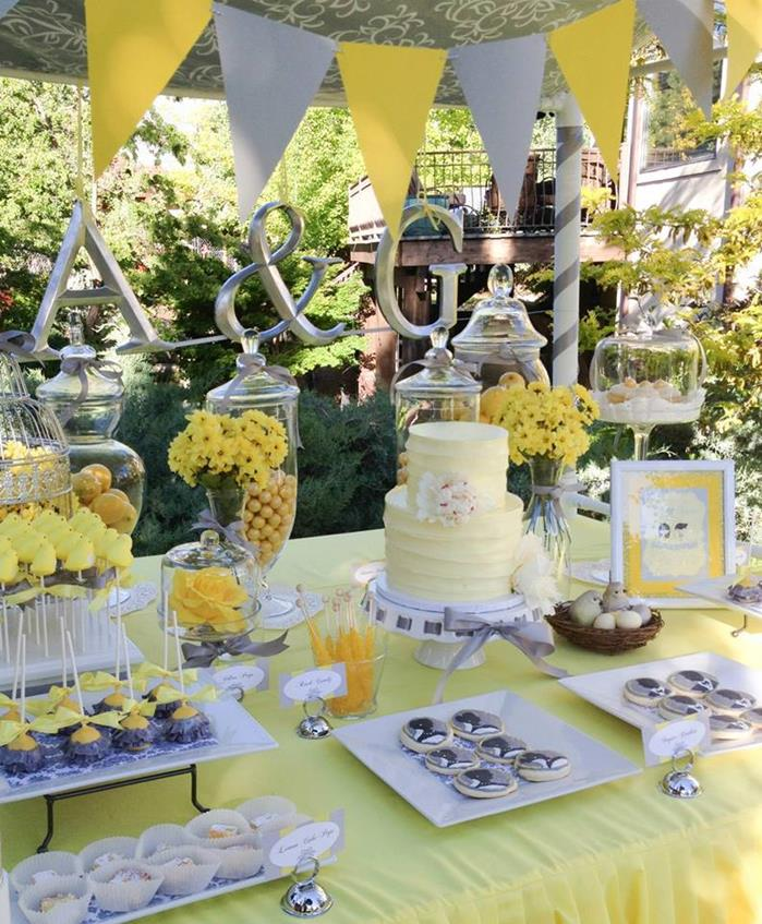 Grey Wedding Ideas: Yellow And Gray Wedding Decorations