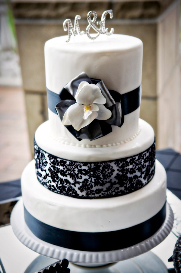 Black White Silver Wedding