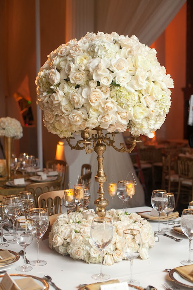 White And Gold Centerpieces 12 Stunning Wedding