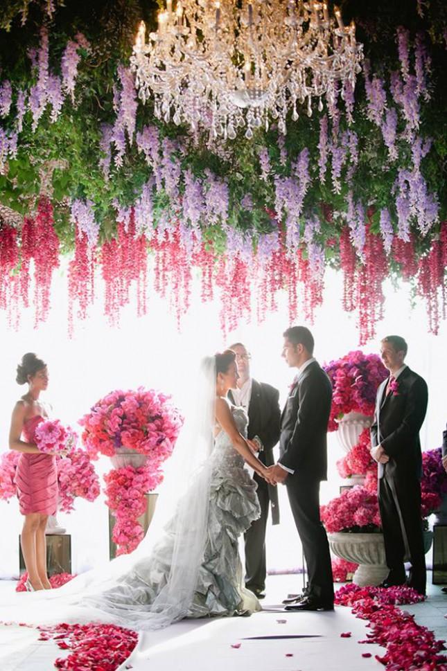 Backdrop Flower Wedding