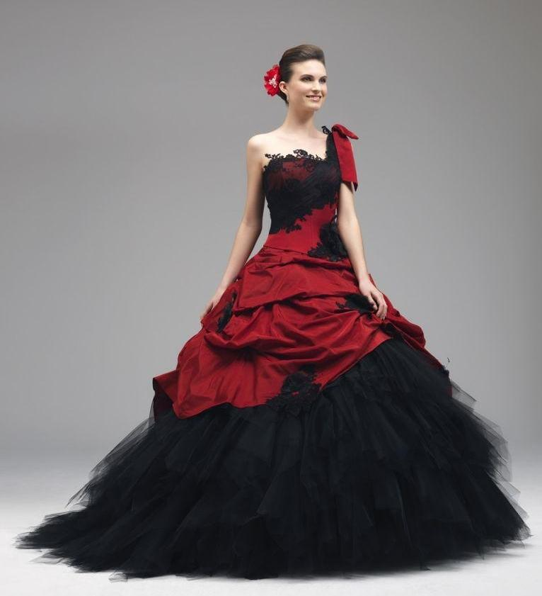 Red And Black Wedding Dress. Wedding Dresses. Wedding Ideas And ...