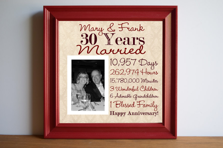 Traditional 25th Wedding Anniversary Gifts: 30th Wedding Anniversary Gift Ideas