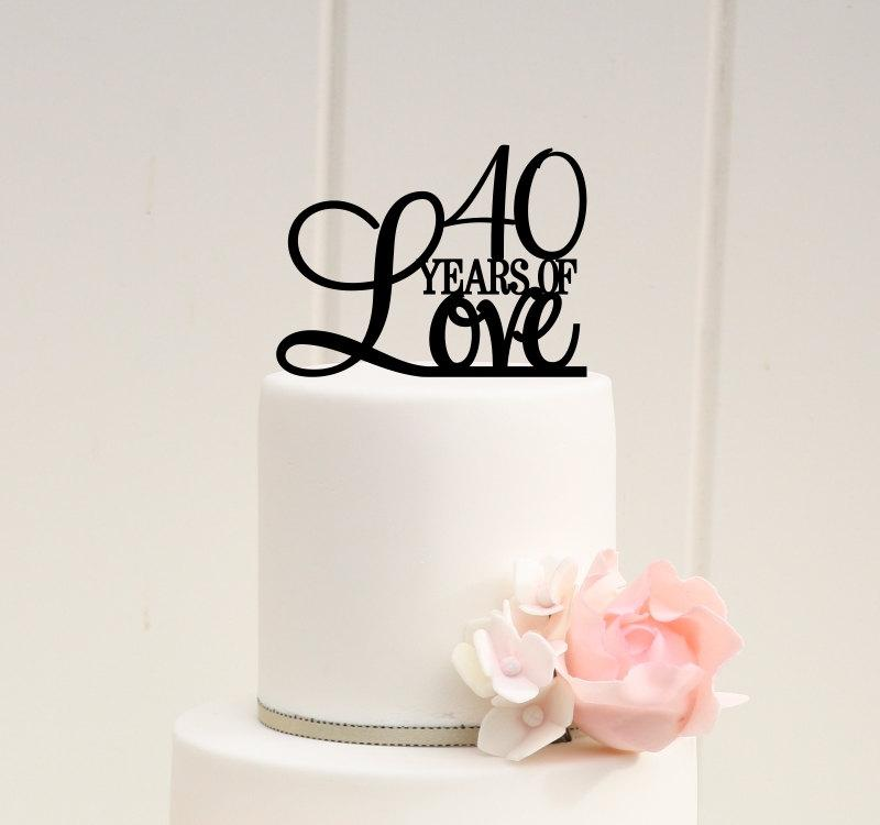 Cake For 40th Wedding Anniversary - Ruby Wedding Cake Toppers