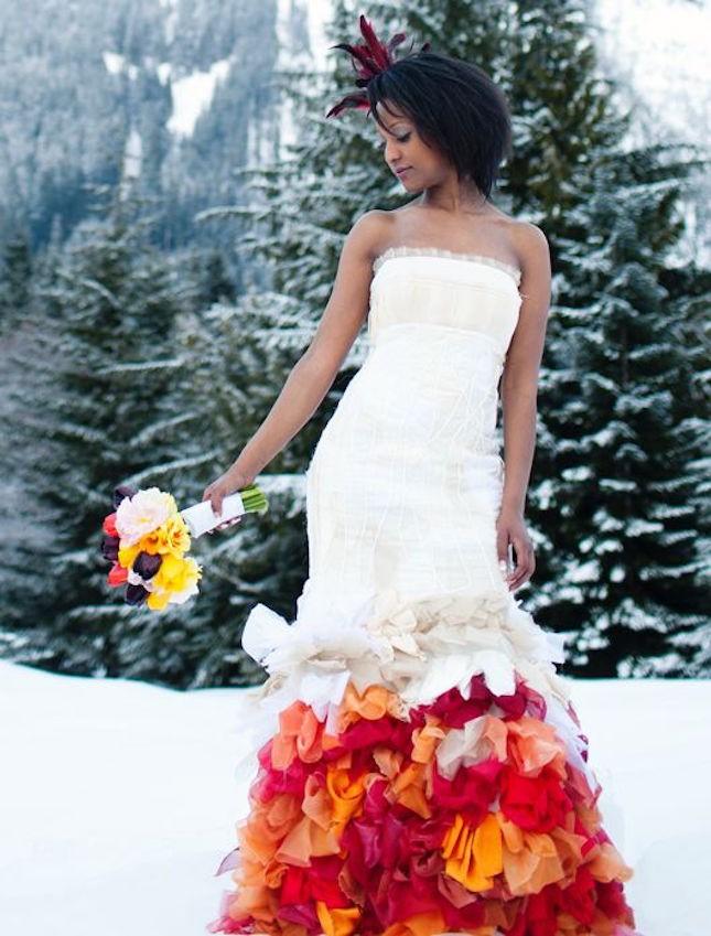 Hawaiian theme wedding dresses