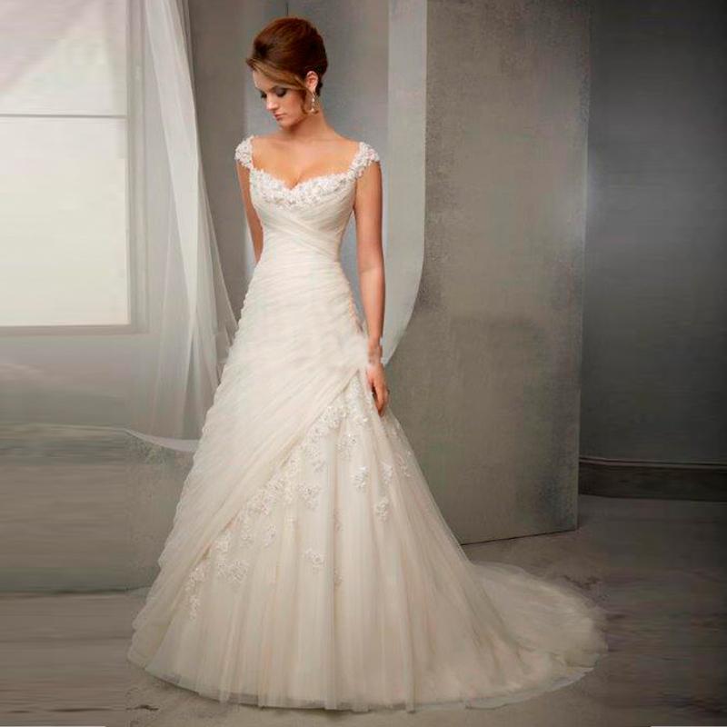 Aliexpress Com Buy Elegant Lace Wedding Dresses V Neck