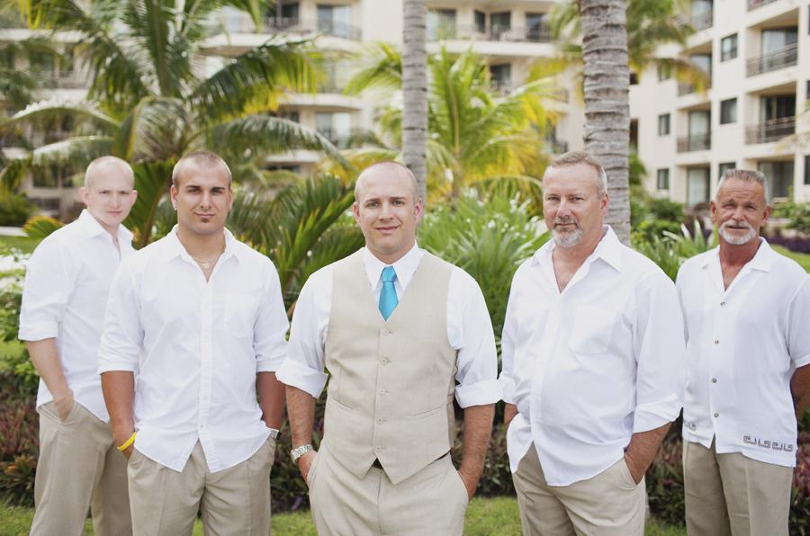 Groom Beach Wedding Suits