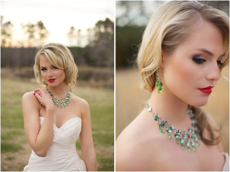 Beautiful Emerald Statement Wedding Jewelry From Aubres Bridal